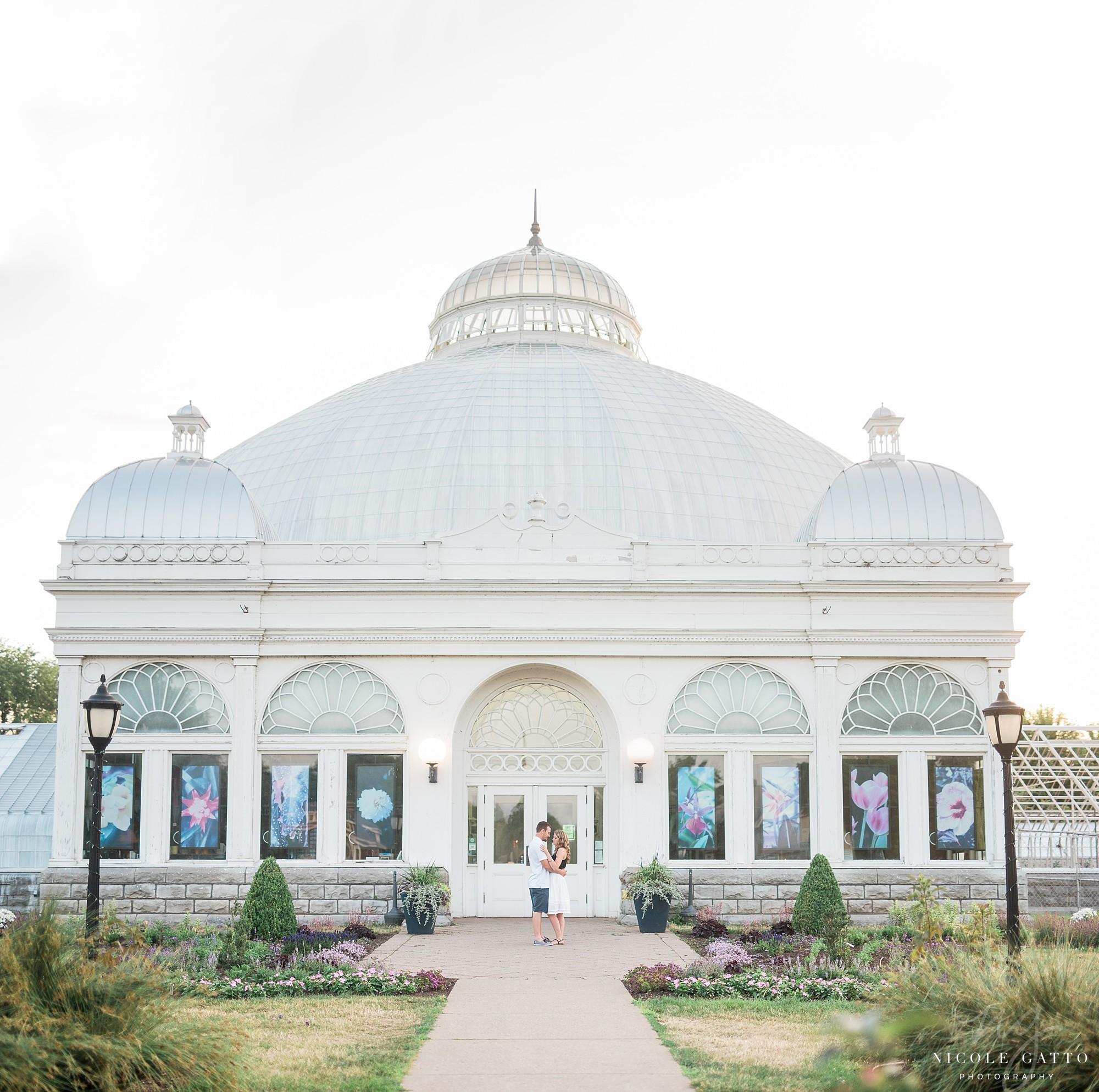 Buffalo Botanical Gardens Engagement Session Wny